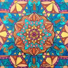 """Morocco 2"", 12 x 12 Acrylic on canvas, $125"