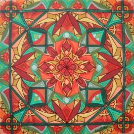 """""""Autumn"""" 12 x 12 acrylic on canvas, $125"""