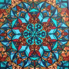 """""""Morocco"""" 12 x 12 acrylic on canvas, SOLD"""