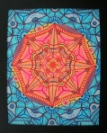 """Sun Mandala"" 8 x 10 acrylic on canvas paper, SOLD"