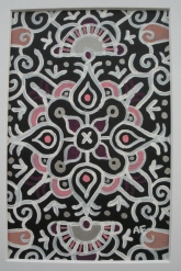 """Mini-Mandala: Black"" 4 x 6, acrylic on paper SOLD"