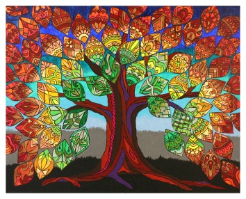 "Tree of Life (1 of 3), 16 x 20"", acrylic on canvas, 2012, SOLD"