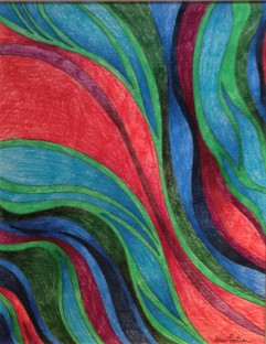 Red Tide, 8x10 colored pencil and ink, 2013 SOLD