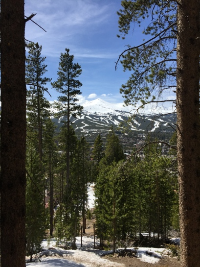Looking across the valley at Breckenridge Ski Area